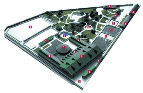 макет генплана конноспортивного комплекса