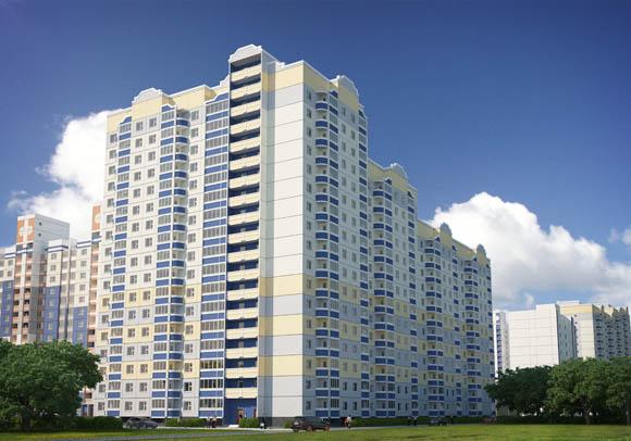 Визуализация жилого дома по позиции 7 - вид с улицы
