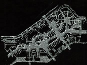 Пешеходная схема в центральной части района