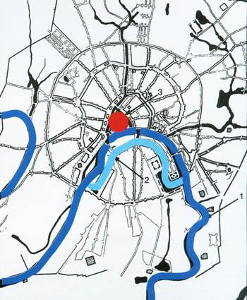 Генеральный план 1775г. Водоотводный канал - первый крупномасштабный гидротехнический проект