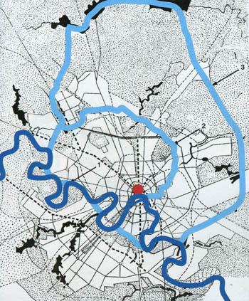 Генеральный план 1935г. Два водных кольца должны превратить Москву в один из самых богатых водой городов мира...