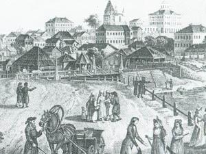 Ж.Делабарт. Вид Яузского моста 1790-е гг.