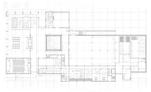 План 1-го этажа музея в Корее