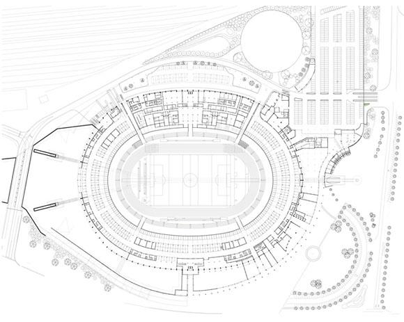 Генеральный план стадиона в Дурбане