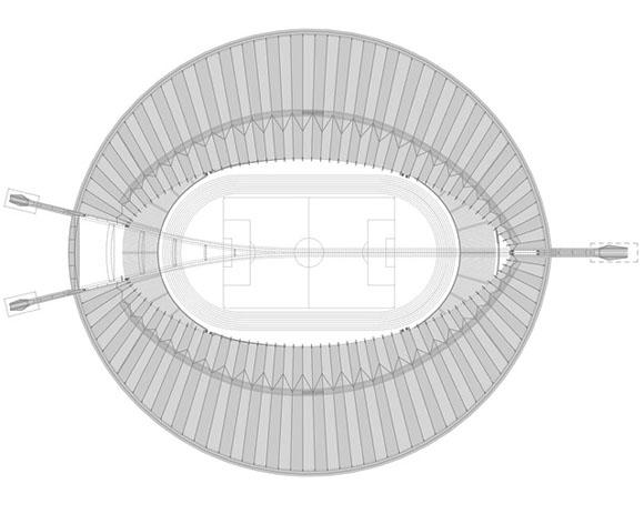 План кровли стадиона