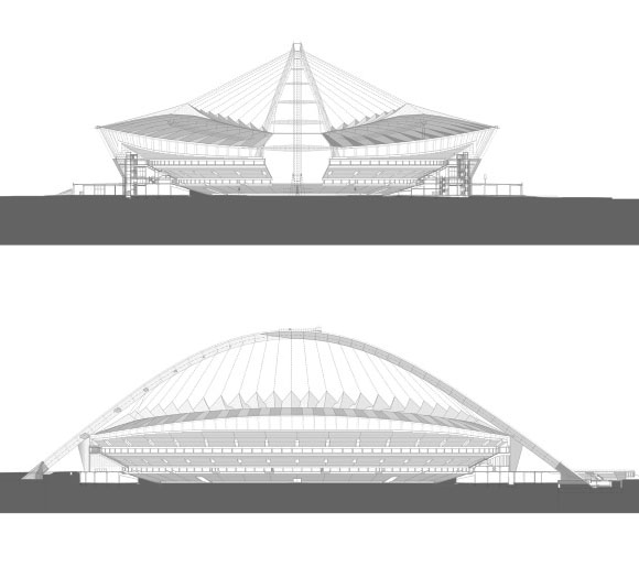 Фасады стадиона