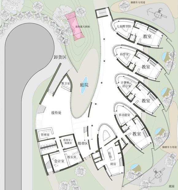 ситуационный план и план первого этажа детского сада