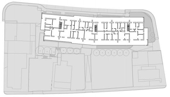 план четвертого этажа жилого дома