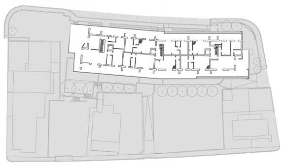 план пятого этажа жилого дома