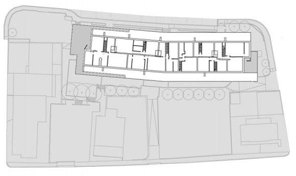 план шестого этажа жилого дома