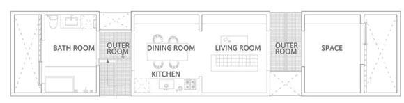 план второго этажа жилого дома в японии