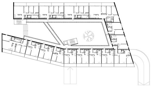 План первого этажа гостиницы
