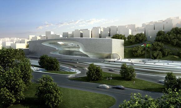Задача: концертный зал на 1600 мест, Малый театр на 400 мест, образовательный центр и галереи <br>Архитектор: Zaha Hadid Architects<br>Дизайн: Заха Хадид и Патрик Шумахер <br>Директор проекта: Чарльз Уокер <br>