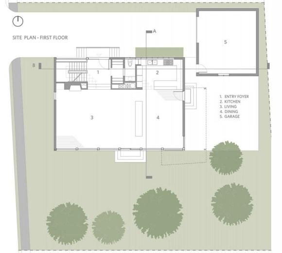 Ситуационный план и план первого этажа