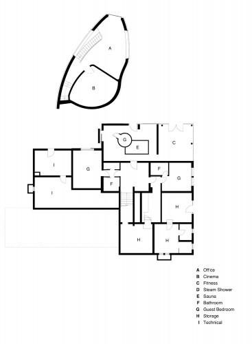 План первого этажа виллы