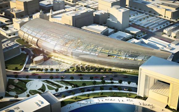 <b>Местоположение</b>: Тяньцзинь, Китай<br><b>Награды</b>: AIA New York City Chapter Design Award (2010), MIPIM Architectural Review Future Projects Award (2007)<br><b>Руководители группы</b>: Пол Кэц, Джеймс Фон Клемперер, Джеффри А. Кенофф, Дезигнер, Гари Стлука,Бернарда Чэнга Хонг Конг, Одри Чоя Джоба<br><b>Заказчик</b>: Hang Lung Properties <br>