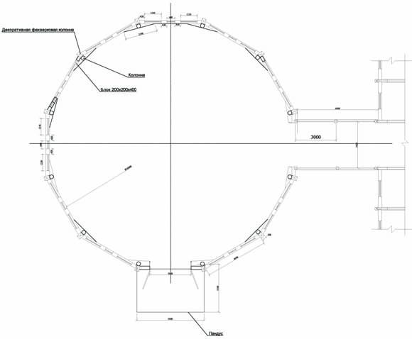 Проектный план бочки для лошадей в конно-споривном комплексе
