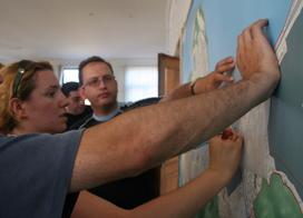 The sketches for Batumi urban plan.