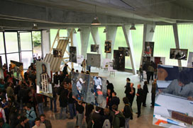 The exhibition on the opening of Lille archetectural school`s new building.