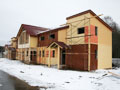 Photographs of the construction of the hotel in horse and sport complex Ekvitorus