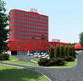 Гостиничный комплекс с крытыми трибунами на территории Тверского Ипподрома