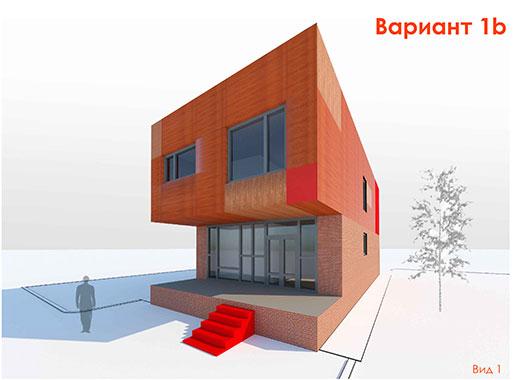 Индивидуальный модульный жилой дом.Двухуровневый, блокированный.