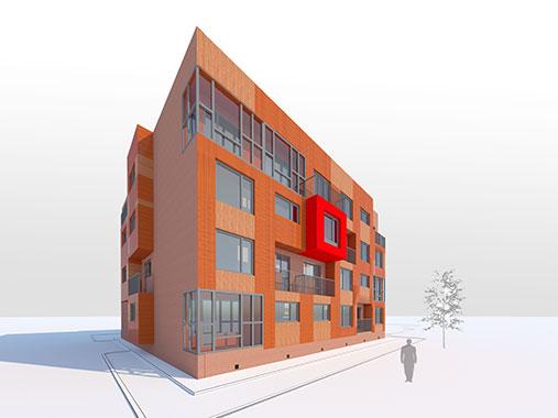 Индивидуальный модульный жилой дом.Башенного типа.