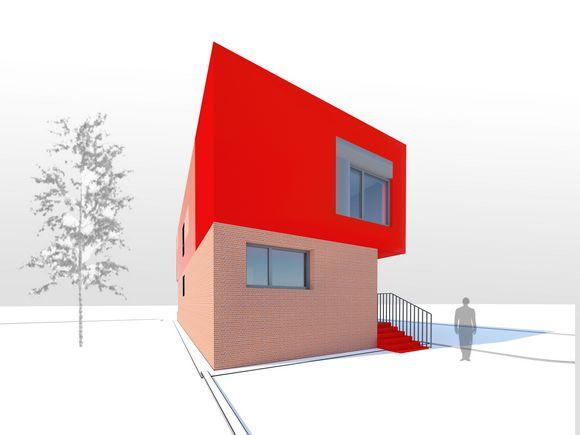 Индивидуальный модульный жилой дом.Двухуровневый.