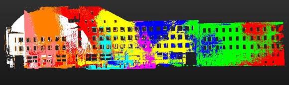 <i>Фасад. Точечная модель. По результатам сшивки 9 сканов.</i>