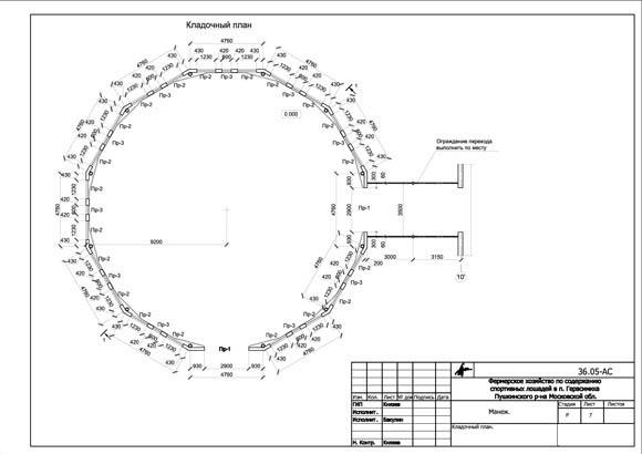 Пример чертежа - Кладочный план бочки