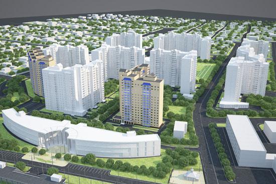 Эскиз проекта микрорайона для работы с архитекторами