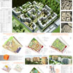 Tablet Project planning area with the placement of high-rise apartment buildings for Leonardo Biennale 2009 in Minsk