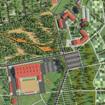 Эскиз застройки территории спортивно-досугового центра Малое Ушаково