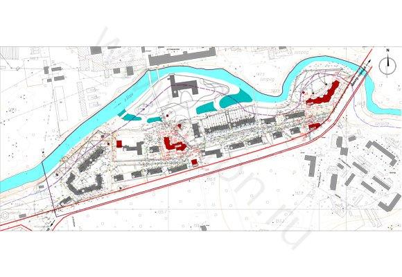 Схема вертикальной планировки  района по улице Чкалова в г.Красноармейске