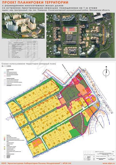 Планшет схема использования территории (опорный план)