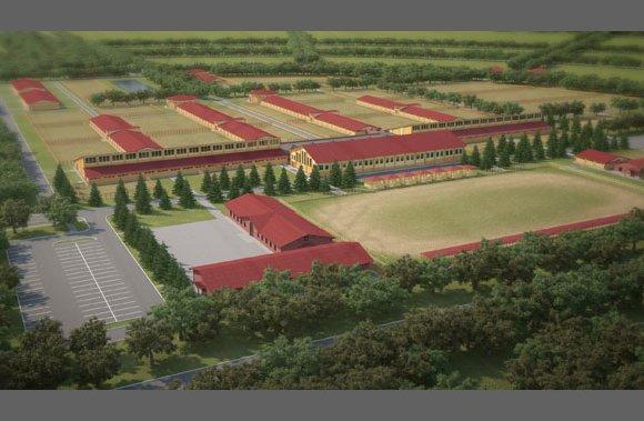 Визуализация застройки конного завода на 200 конематок, вид 3