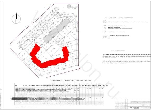 Картограмма земляных масс территории жилого комплекса в Красноармейске на ул. Чкалова