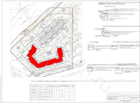 План дорожных покрытий на территории жилого комплекса в Красноармейске, ул. Чкалова