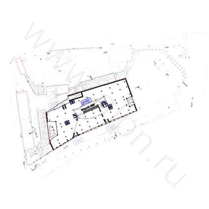 Предпроектное предложение по размещению торгово-офисного комплекса на улице ул. Арбат, вл.4 - План первого этажа