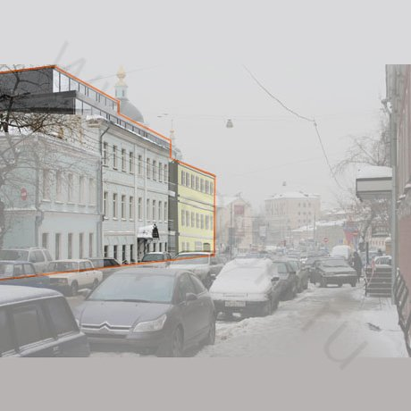 Административное здание в Таганском районе Москвы - 3d визуализация