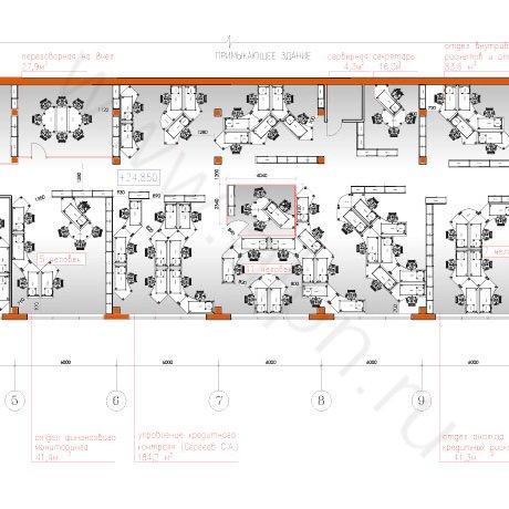 Схема перепланировки офисного помещения с расстановкой мебели