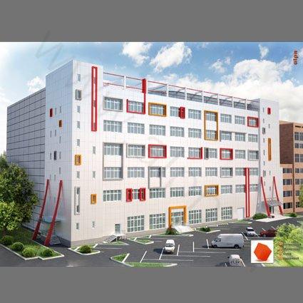Реконструкция фасадов офисного здания - 3d визуализация