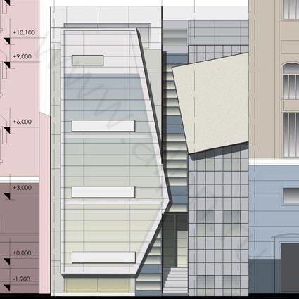 Фасад Административно-офисного здания на 2-й Тверской Ямской