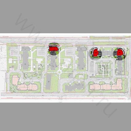 Генеральный план с размещением встроенно-пристроенных помещений свободного назначения в Андреевке