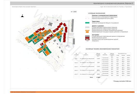 Архитектурно-планировочное решение. Вариант 3