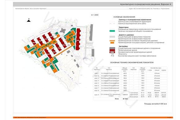 Архитектурно-планировочное решение. Вариант 4