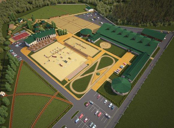 Визуализация планировки территории объекта