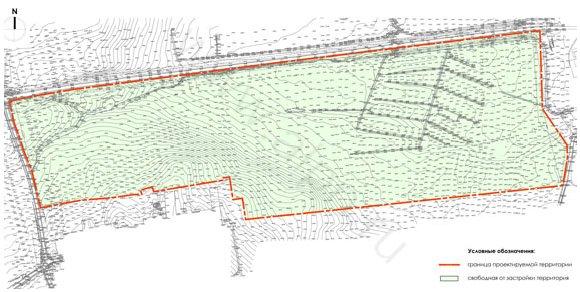 Эскиз застройки территории. Существующее положение