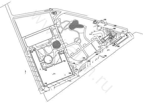 Схема вертикальной планировки территориии конноспортивного комплекса ЭквитоRUS
