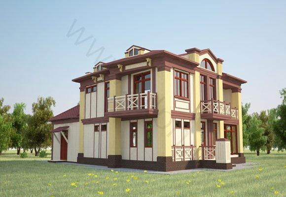 Визуализация 1 гостевого дома в г.Таруса